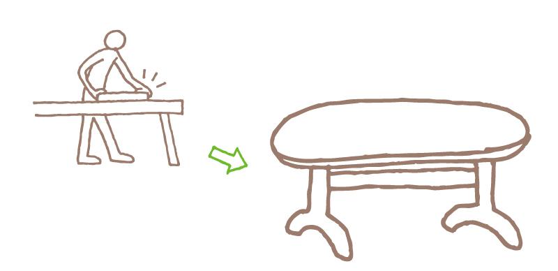 家具ができるまで